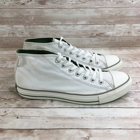 Converse All Star Chuck Taylor Mid White Green
